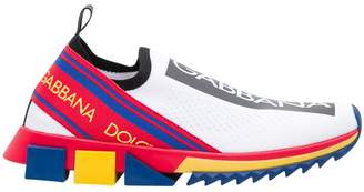 Dolce & Gabbana Sorrento Slip-on Sneakers In Stretch Knit