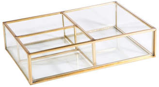 Keepsake Home Details Vintage 3 Compartment Glass Tray