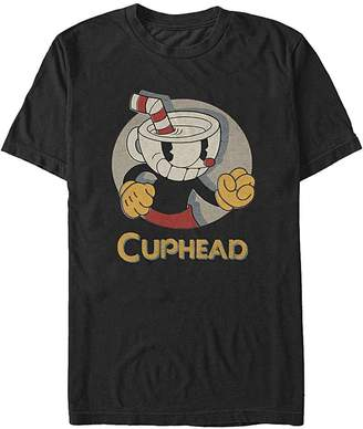 Fifth Sun Cuphead Logo Portrait Circle Mens Graphic T Shirt