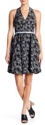 Maggy London Jacquard Halter Bubble Dress
