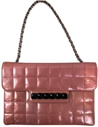 Chanel Vintage Wallet on Chain Pink Patent leather Handbag