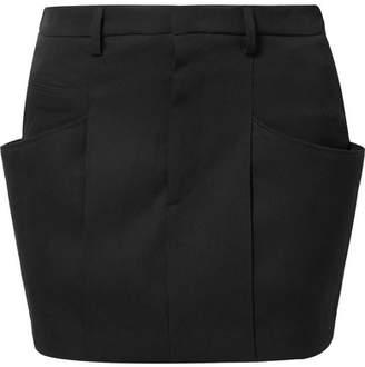 Isabel Marant Rabea Wool-twill Mini Skirt - Black