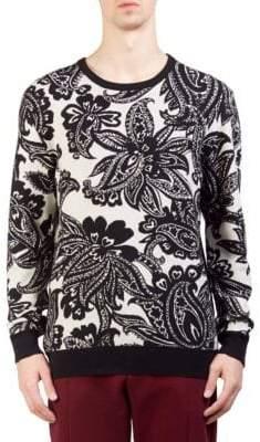 Alexander McQueen Brocade Wool Crewneck Sweater