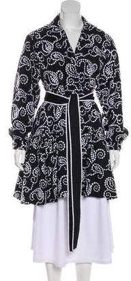 Alexis Embroidered Knee-Length Coat