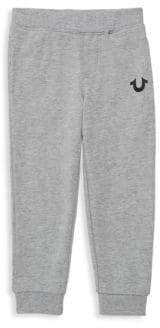 True Religion Little Boy's Logo Heathered Sweatpants