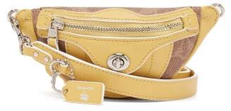 Coach Matty Bovan X Matty Bovan Xs Signature Canvas Belt Bag - Womens - Yellow Multi