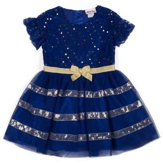 Little Lass Sequin Lace and Tulle Holiday Dress (Little Girls)