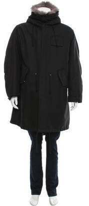 Calvin Klein Shearling-Accented Parka Coat