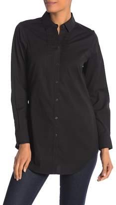 Foxcroft Sheri Long Sleeve Tux Styled Tunic