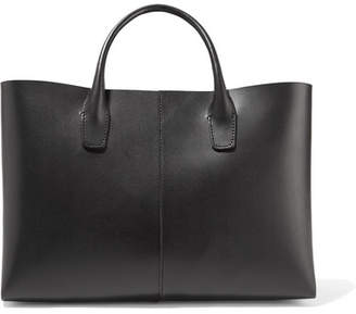 Mansur Gavriel Folded Mini Leather Tote - Black