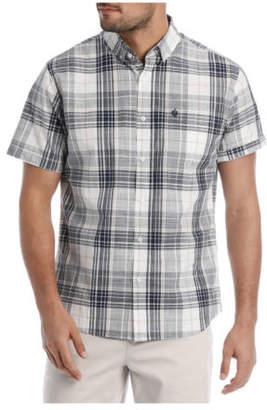 Hudson NEW Reserve Short Sleeve Check Shirt Indigo