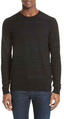 Men's Armani Jeans Ribbed Stripe Sweater $225 thestylecure.com