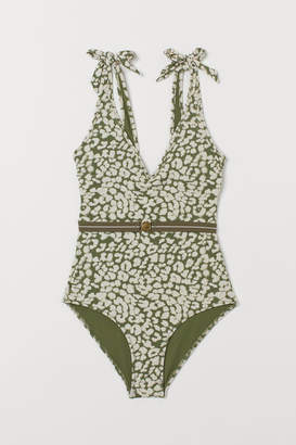 79e9cd024a80b One-piece Swimsuit With Belt - ShopStyle
