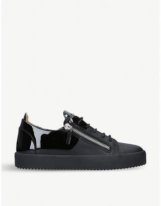 Giuseppe Zanotti Patent-leather two-tone low-top trainers