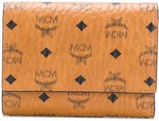 MCM Color Visetos three fold wallet
