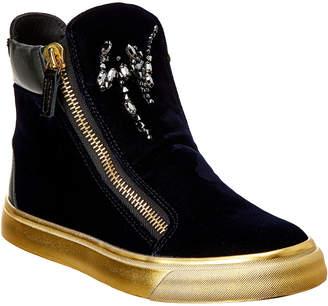 Giuseppe Zanotti Velvet High-Top Sneaker