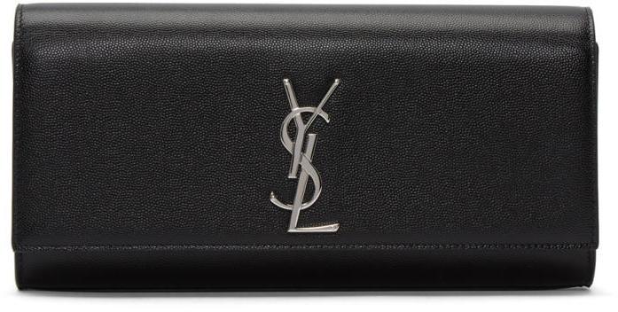 Saint Laurent Black Kate Monogram Clutch
