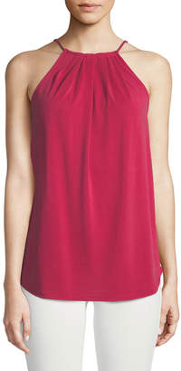 Casual Couture Gathered Halter-Neck Blouse