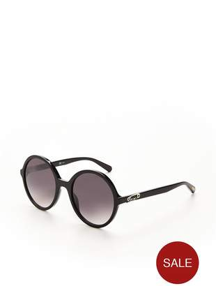 9802d75f6c at Littlewoods · Love Moschino Round Sunglasses - Black