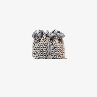 Sophia Webster Blue Emmie embellished pouch bag