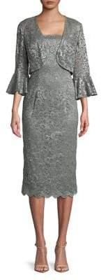 Alex Evenings Petite Two-Piece Shift Dress and Bell-Sleeve Bolero Jacket