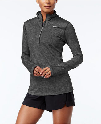 Nike Element Dri-fit Half-Zip Running Top $65 thestylecure.com