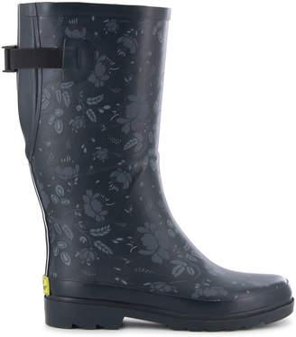 Western Chief Womens Dot City Rain Boots Waterproof Flat Heel
