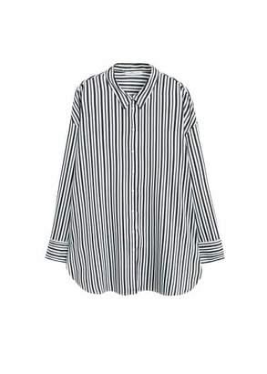 Violeta BY MANGO Striped flowy shirt