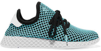 outlet store 244bd e4c8f adidas + Parley Deerupt Runner Suede-trimmed Mesh Sneakers - Blue