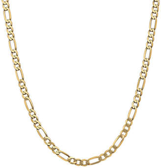 FINE JEWELRY 14K Gold 18 Inch Solid Figaro Chain Necklace