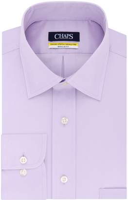 Chaps Mens Regular Fit Comfort Stretch Spread Collar Dress Shirt