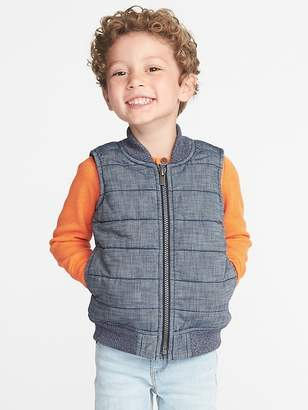 Old Navy Quilted Chambray Vest for Toddler Boys