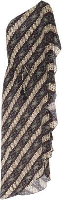 Figue Maisie One-Shoulder Crepe de Chine Maxi Dress Size: XS