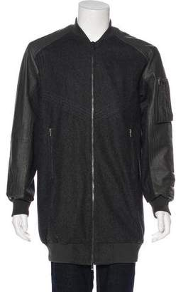 Skingraft Wool & Leather Bomber Jacket