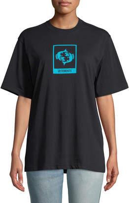 Vetements Zodiac-Print Crewneck Short-Sleeve Cotton Tee