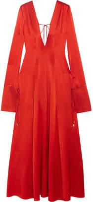 Michael Lo Sordo - Victoria Silk-satin Maxi Dress - Orange