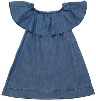 Molo Ruffled Cotton Chambray Dress