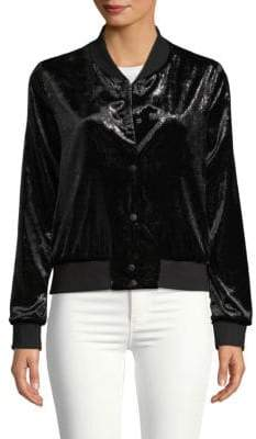 Bailey 44 Velvet Baseball Jacket
