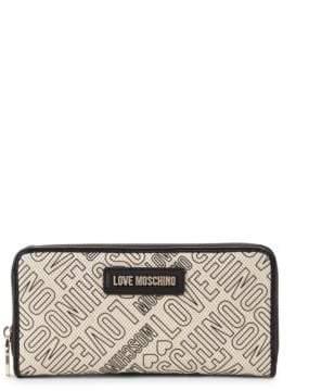 Love Moschino Logo Printed Canvas Wallet