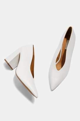 Topshop Grove V-Cut Court Shoes