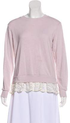 Clu Scoop Neck Lace Trim Top