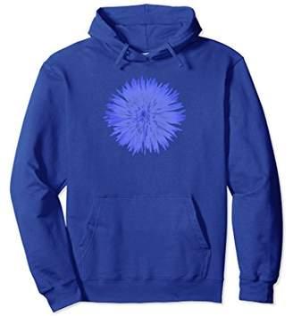 Indigo Mod Flower 2 Hoodie Sweatshirt