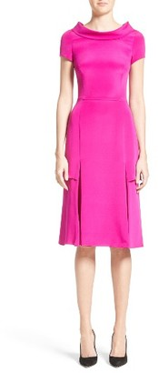 Women's Carolina Herrera Portrait Collar Silk Satin Dress $2,190 thestylecure.com