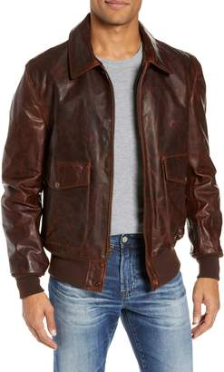 Schott NYC Vintage Oiled Cowhide Leather Flight Jacket