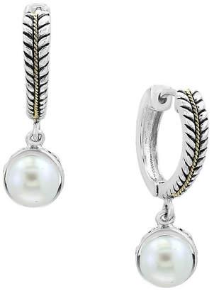 Effy Fine Jewelry 18K & Silver Pearl Drop Earrings