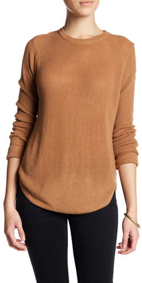 Line Ribbed Crew Neck Sweater $135 thestylecure.com