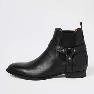 River Island Black western style leather boots