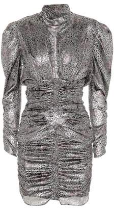 Isabel Marant Pandor metallic printed minidress
