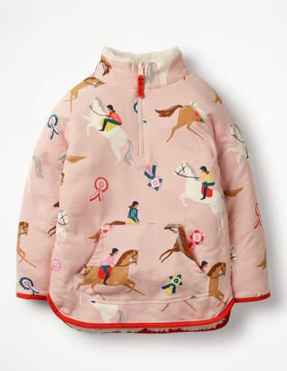 Boden Reversible Half-zip Sweatshirt