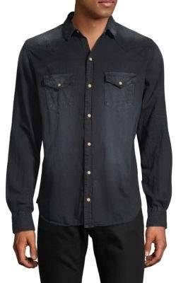 Bar Wings Cotton Button-Down Shirt